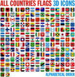 All country flags complete set Royalty Free Stock Photos