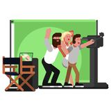 All crew doing selfie. Vector illustration, EPS 10 Royalty Free Stock Photography