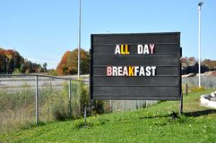 All day breakfast sign Stock Image