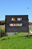All day breakfast signage Stock Photography