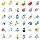 All day business icons set, isometric style. All day business icons set. Isometric style of 36 all day business vector icons for web isolated on white background Royalty Free Stock Photos