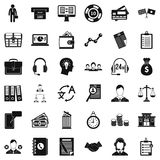All day business icons set, simple style. All day business icons set. Simple style of 36 all day business vector icons for web isolated on white background Stock Photography