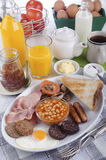 All day irish breakfast on a plate Stock Photo