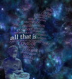 ALL THAT IS deep space background Stock Photography