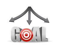 All destinations pointing to your goal. concept. Illustration design stock illustration