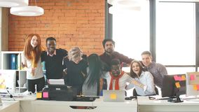 We are all different, but we are the partners of one team. Multi-ethnic collaboration. We are all different, but we are the partners of one team. Multi-ethnic stock video footage