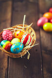 All eggs in a basket Stock Images