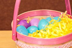 All the eggs in one basket Royalty Free Stock Image