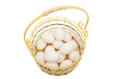 All eggs in one basket Stock Photo