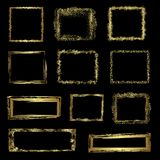Gold grunge frames, vector Royalty Free Stock Image