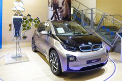 All-elkraft bil BMW i3 Fotografering för Bildbyråer