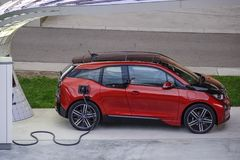 All-elkraft bil BMW i3 Royaltyfria Bilder