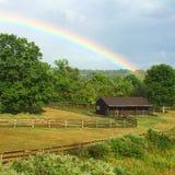 All'estremità del Rainbow Immagine Stock