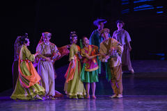 """All ethnic groups-Dance drama """"The Dream of Maritime Silk Road"""". Dance drama """"The Dream of Maritime Silk Road"""" centers on the plot of two Royalty Free Stock Photography"""