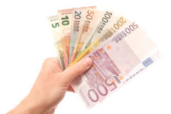 All euro banknotes Royalty Free Stock Images