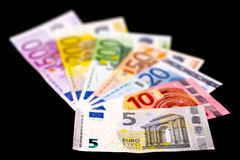 All euro banknotes Stock Images