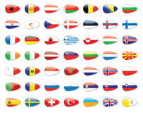 All europe country flags Royalty Free Stock Photos