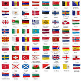 all europeisk flagga royaltyfri illustrationer
