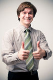 All is excellent. Gesture All is excellent, Small depth of sharpness Royalty Free Stock Images