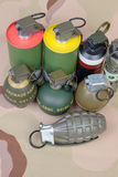 All explosives, weapon army,standard time fuze, hand grenade on Stock Images