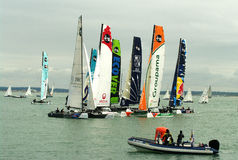 All Extreme 40 catamarans at cowes week Royalty Free Stock Images
