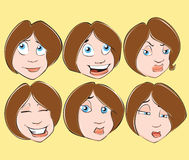 All faces Stock Images