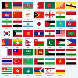 All flags of the countries of the Asia. All flags of the countries of the Asia Royalty Free Stock Photo
