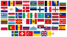 All Flags of Europe Stock Photography
