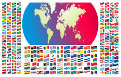 All flags of the world Stock Photos