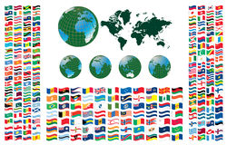 All flags of the world Royalty Free Stock Photos