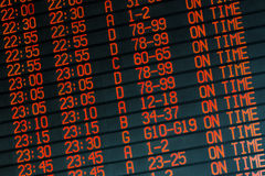 All flights departs on time Stock Images