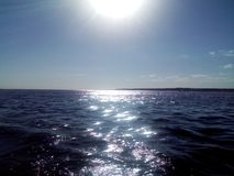 All-fokus skönhet för sommar för afton för ‹för †för havs, himmel, solnedgång arkivbild