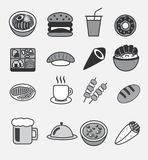 All food icon vector logo , udon , burger , soda drink , bento , doughnut , sushi , maki , donburi Japanese rice bow, steak , co. All food icon vector logo bean Royalty Free Stock Photography