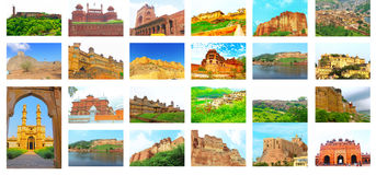 All the forts in india Royalty Free Stock Images