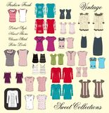 All girl apparel in set color Royalty Free Stock Photo