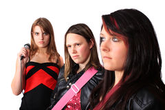 All girl teenage musical band Royalty Free Stock Photography
