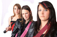 All girl teenage musical band Royalty Free Stock Images