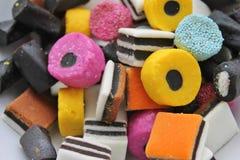All godis och sötsaker slag Arkivfoto