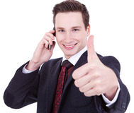 All good on the phone Stock Photography