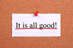 It is all good Royalty Free Stock Photo