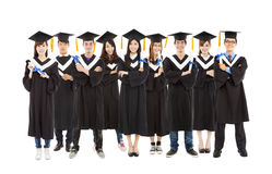 All graduation student standing a row Stock Images