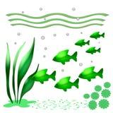 All green ocean Stock Photo