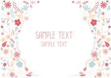 all härlig blom- hälsning för kortmappen grupperade meddelandeobjekt som äga byter ut separetly den din textvektorn Royaltyfri Fotografi