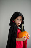 All Hallows Eve. Boy age dressed in a costume for Halloween. Stock Photo
