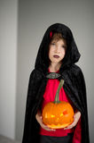 All Hallows Eve. Boy age dressed in a costume for Halloween. Stock Photography