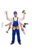 all handymanstålar handlar arbetaren Arkivfoto