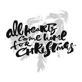 All Hearts Come Home for Christmas Stock Image