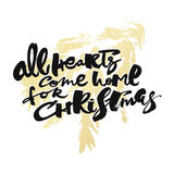 All Hearts Come Home for Christmas Royalty Free Stock Photos