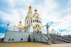 All helgonkyrka i Minsk, Republiken Vitryssland Arkivbild
