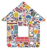 All for the house stock illustration